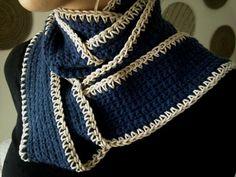 Merino wool skinny scarf with natural twine border. 251484_10200140483788707_486145652_n.jpg (960×720)