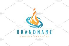 For sale. Only $29  #blue #orange #memorable #abstract #simple #element #force #energy #power #oil #gas #fire #burn #heat #warm #wind #vortex #water #extinguish #collaboration #change #shift #rotation #circulation #flame #transformation #process #logo #design #template