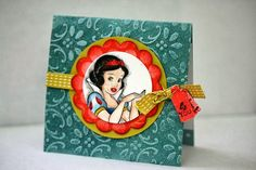 Designed by maryross: Snow White birthday card or invitation, more pics and details.