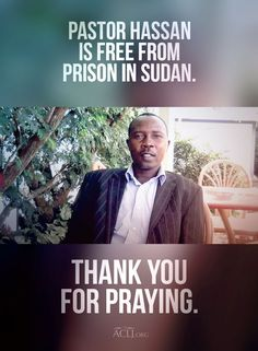 After 543 days in a Sudanese prison, Pastor Hassan has been released! Join us in thanking God and please continue to pray for his safety.