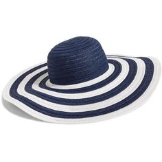 Vera Bradley Sun Hat in Navy Stripe ($28) ❤ liked on Polyvore featuring accessories, hats, navy stripe, beach sun hat, brimmed hat, stripe hat, navy blue hat and striped hat