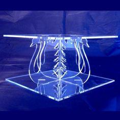 Cygnes carré acrylique piliers séparateur de par SuperCoolCreations
