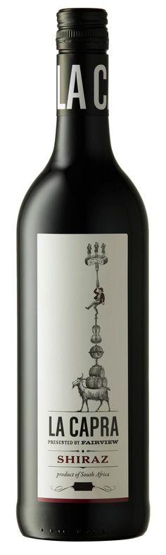 Wir lieben die #Weinetiketten von #Fairview!    #Wein #Etikett #wine #label #design #ziegen #goats #lacapra