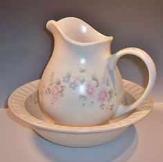 Pfaltzgraff  Tea Rose:  Large Bowl & Pitcher