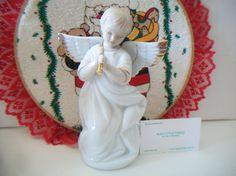 Vintage Angel Trumpet Porcelain Figurine by ALEXLITTLETHINGS