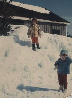 I remember huge snow piles when I was a kid! It snows a lot in Maine and after awhile there's no room for it all!! (Brunswick, Maine circa 1966)