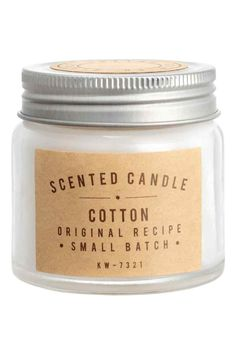 Scented candle in glass jar - White/Cotton - Home All | H&M GB 1