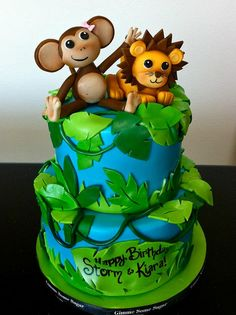 Jungle Themed Birthday Cake | Flickr - Photo Sharing!