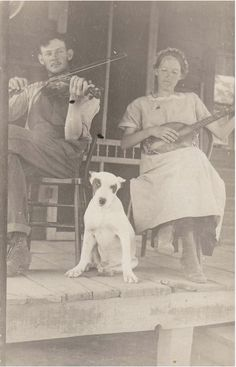 Music on the front porch in the American South, no further info.