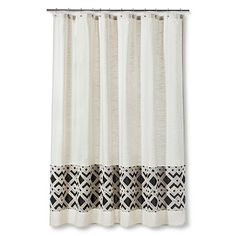 Images Of Threshold Patterned Band Shower Curtain Beige Shower CurtainsBathroom Accessories