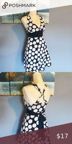 Black and White Polka Dot Sundress Black and white polka dot sundress size M Dresses Midi Fitted Midi Dress, Belted Dress, Striped Dress, Yellow Lace Dresses, Blue And White Dress, Vintage Tea Dress, Wool Dress, Braid, Polka Dot