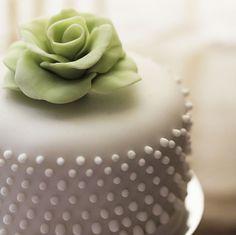 Beautiful Chic Fondant Cake...very simplistic I love it.