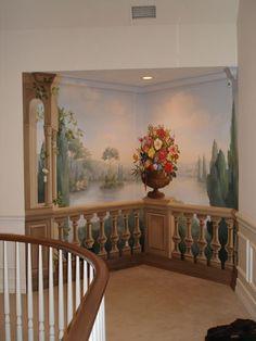 vestíbulo de entrada mural - después