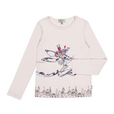 Paul Smith Junior | Girls' Light Pink Rabbit Doodle T-Shirt