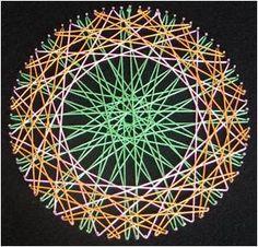 Mandala - string art!