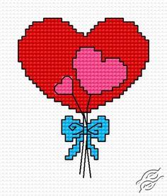 Hearts - Free Cross Stitch Pattern