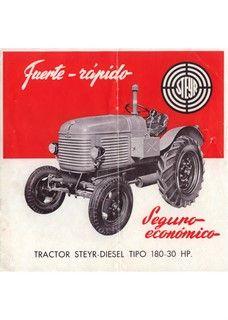 Tractorbrochures.com/Steyr 80 - 280 Steyr, Tractors, Diesel, Monster Trucks, Tractor, Diesel Fuel