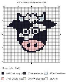 Cow hama perler pattern