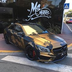 Instagram media by msmotors - Mercedes CLA45 AMG Special Camo 😍 Rate it 1-100! Build by @msmotors - #msmotors