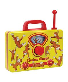 Take a look at this Curious George Tin Music Radio by Curious George Collection on #zulily today!
