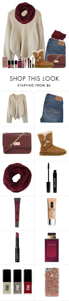 """""""Untitled #178"""" by fashion-n-o-w ❤ liked on Polyvore featuring Abercrombie & Fitch, Forever 21, UGG Australia, BCBGMAXAZRIA, Lord & Berry, Lane Bryant, Clinique, NARS Cosmetics, Dolce&Gabbana and JINsoon"""