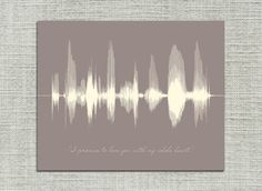 Personalized Anniversary Gift Voice Sound Wave by ArtsyVoiceprint