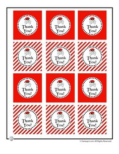 Cute Pirate Birthday Party Table Decorations to Print Thank You Tags for a Pirate Themed Party – Fantasy Jr.