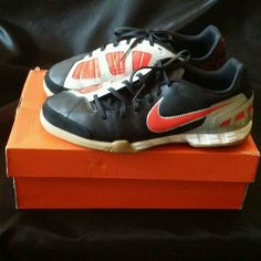 Nike JR TOTAL90 SHOOT III IC Red Slvr Black Indoor Turf Soccer Shoes Size  5.5 US