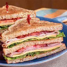 this All-American Deli Club Sandwich on Martin's Stone Ground Whole Wheat Potato Bread!Try this All-American Deli Club Sandwich on Martin's Stone Ground Whole Wheat Potato Bread! Club Sandwich Recipes, Deli Sandwiches, Turkey Sandwiches, Delicious Sandwiches, Best Sandwich, Soup And Sandwich, Turkey Club Sandwich, Dinner Sandwiches, Breakfast Sandwiches