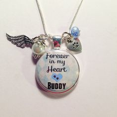 PERSONALIZED Memorial DOG or PET Memorial by AnnmarieJewelryTree