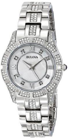e974314e93b5 Reloj Bulova Reloj Bulova de acero inoxidable con cristal Swarovski 96L116