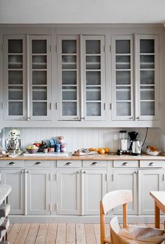 Always Classy: Warm Light Gray Cabinets — Kitchen Inspiration