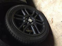 Plasti dipped rims..... Exact model of my car! I wanna do this to my rims!!!