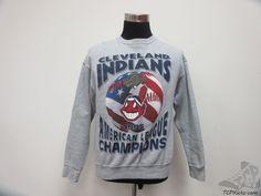 Vtg 90s Starter Cleveland Indians Crewneck Sweatshirt sz M Medium Baseball MLB  #Starter #ClevelandIndians #tcpkickz