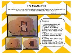 A Sunday School Easter Resurrection Tomb Craft Set with Je