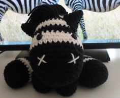 Crochet Zebra Pattern on Pinterest Crochet Zebra, Crochet Animal ...