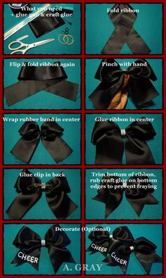 bows How to make hair bows seems like a challenging DIY project to take on. Hair bows make great hair accessories. Usually younger kids only tend to wear these bows. But growing girls and even teenagers Making Hair Bows, Diy Hair Bows, Diy Bow, Bow Making, Diy Ribbon, Softball Bows, Cheerleading Gifts, Football Hair Bows, Cheerleader Gift