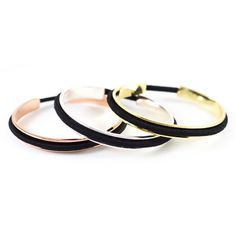 CLASSIC Hair Tie Bracelet Cuff in Silver + Gold + Rose Gold, hair tie holder cuff, metal bracelet that holds hair ties