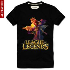 Cool Designs League OF Legends T Shirt LOL zilean New Style2 Black