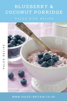 Blueberry & Coconut Porridge  #Paleo #food #recipe #keto #diet #coconutporridge