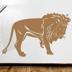 "Style and Apply Lion King Wall Decal Size: 21"" H x 31"" W, Color: Copper"
