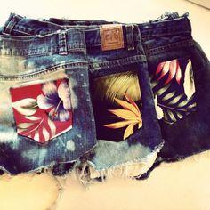 DIY Floral Pocket Shorts