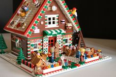 LEGO Gingerbread house... a recent building challenge held by KC Brick Lab. This is my humble entry. This build will be part of the 2015 Holiday Table presented by KC Brick Lab at Union Station in Kansas City, MO. Our Gingerbread village will be in the Grand Hall. Need to give credit to Terry Akuna who printed the custom cookies, doughnuts and cake tops. He does amazing work