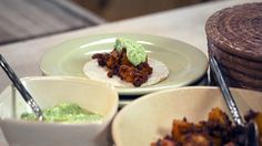 I just discovered this amazing recipe Potato-Chorizo Tacos with Simple Avocado Salsa on Panna by Chef Rick Bayless!