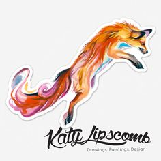 Jumping Fox- Jumbo Bumper Sticker · Katy Lipscomb · Online Store Powered by Storenvy