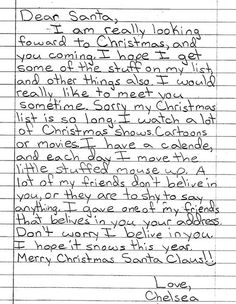 NoahS Letter To Santa I Will Forever Love This  Letters To