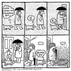 Dogs have a funny way of being adorable, confusing, and frustrating at the same time, but these cartoons by Rupert Fawcett will help you shake it all off your Silly Dogs, Funny Dogs, Funny Animals, Secret Life Of Dogs, Tierischer Humor, Dog Humour, Dachshund Funny, Dachshund Art, Dog Comics