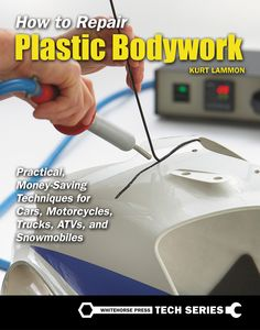 From the book: In body shops around the world, by far the most common products used in plastic repair are two-part adhesive materials. They get their name from the fact that they consist of two components, commonly called an A Side and B Side, or Resin and Hardener. The separate components are liquid or paste until mixed together in the proper proportions. When mixed, a chemical reaction begins that will result in the material becoming solidified. (read on for tips and how-to's)