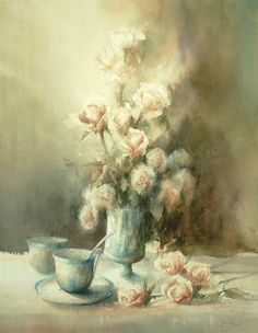 A well recognised watercolourist, Janine's work has appeared in numerous magazines and books on watercolour in Europe, Australia, Canada an. Watercolor Artwork, Watercolor Flowers, Australian Painting, Sweet Pic, Small Paintings, Museum Of Fine Arts, Urban Landscape, Funny Art, Art World