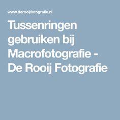 Tussenringen gebruiken bij Macrofotografie - De Rooij Fotografie